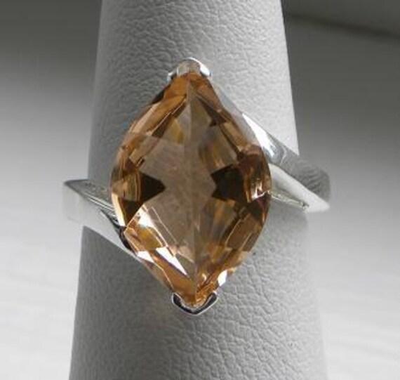 Natural Pink Morganite 12x17mm Gemstone Ring 925 Silver Band Size 7 Take 10% Off