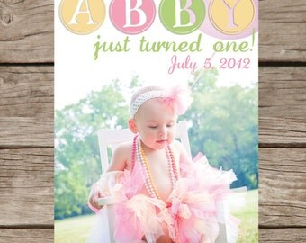 Printable Photo Birthday Announcement