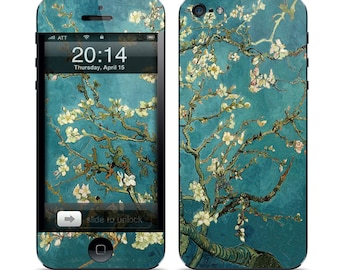 Apple iPhone 3G / 3GS, iPhone 4 / 4s, iPhone 5 / 5s, iPhone 5c, iPhone 6, iPhone 6 Plus Decal Skin Cover - Van Gogh Blossoming Almond Tree