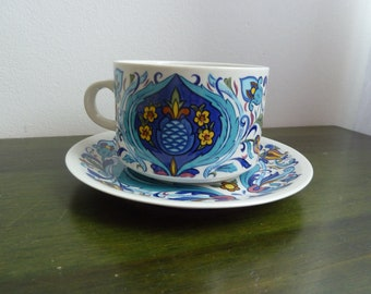 Villeroy and Boch Izmir 1973 big mug cup with sauser