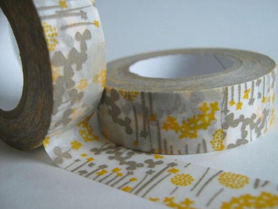 Washi tape, yellow little garden