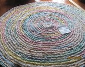 "Round Crochet Rag Rug  ""Girly Pastels"""