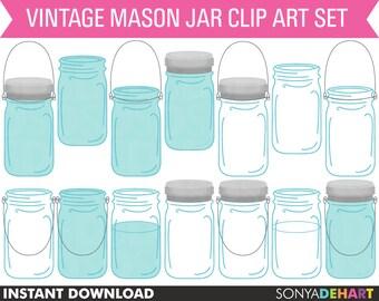 80% OFF Sale Mason Jar Clipart, Mason Jar Clip Art, Wedding Clipart, Clipart Mason Jars, Mason Jars Graphic, Clipart, Mason Jars