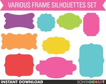 60% OFF SALE Clipart Frames, clipart labels, digital frames, frames clip art, digital labels, clip art frames, clip art labels