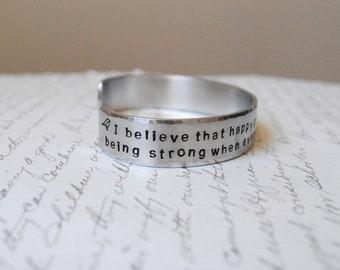 Custom Hand Stamped Bracelet- Personalized Bracelet