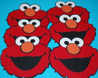 """Elmo Die Cuts 4"""" (6)"""