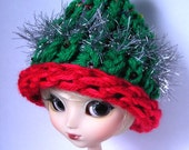 adorable Christmas tree hat for Pullip