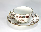 Vintage Minton bone china Ancestral pattern coffee or tea cup and saucer