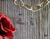 550-  Montana Blue Swarovski Crystal Earrings