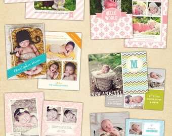 Birth announcement template- E475