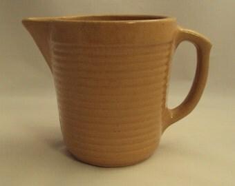 Vintage Monmouth Pottery 1 Quart Milk Batter Pitcher Western Stoneware