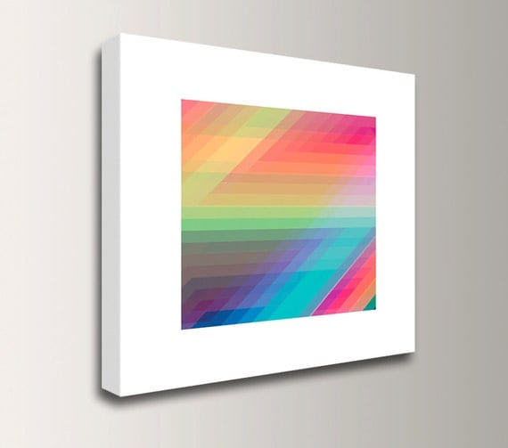 "Zig Zag Art - Colorful Decor - Abstract Wall Art - Bright Colors - Canvas Print - ""Spectrum 1"""