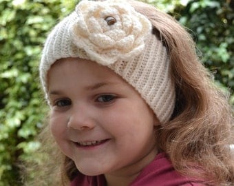 4in1 CROCHET PATTERN PDF: Peony Headband Options