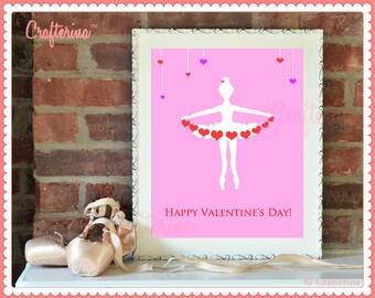 Valentine's Day Digital Fine Art Print - Printable PDF - Wall Art - 8x10 - PDF Download - Digital Art