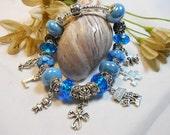 DELUXE Custom Story Bracelet, Murano Bead Bracelets, European Charm Bracelets