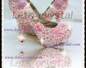 12cm Shocking light Pink Desginer Pearl Platform heels luxury wedding and party shoes 5-12 us size