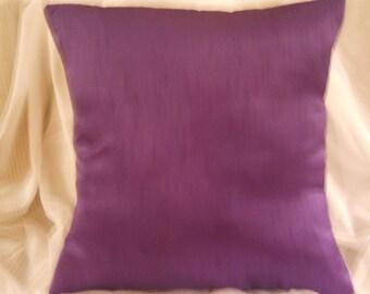Pillow Cover, Purple Pillow Cover, Pillow Cushion, Decorative Pillow, Purple/Egg Plant Pillow, Satin Throw Pillow, Elegant Pillow.