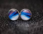 Electric Blue Cufflinks - Wearable Art