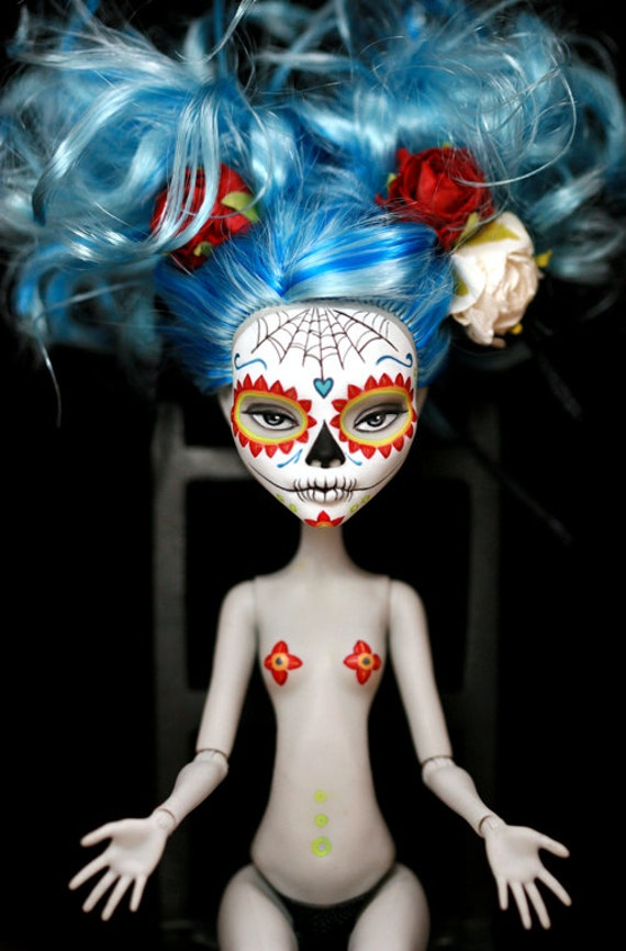 Dia de los Muertos Calavera Monster High postcard No. 2