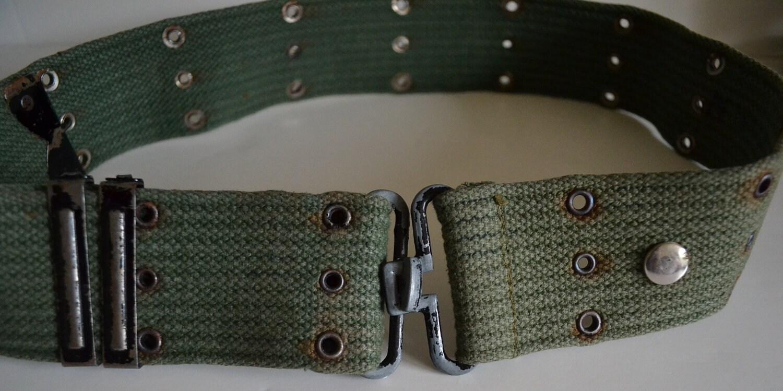 vintage military belt men or women us army issue adjustable