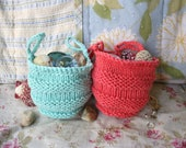 Hand Knitted Set of Collector Pouches (Set of 2)