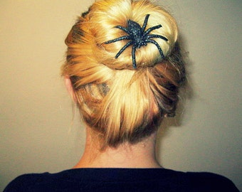 Large Sparkle Spider Hair Clip