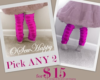 Pick ANY 2 Baby Legs/ Leg Warmers from OSewHappy store