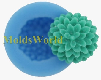A379 Mini Chrysanthemum Polymer Clay Silicon Mold Food Grade Silicone Fimo Mould 13mm