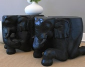 Handcarved Elephant End Tables