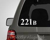 Car Decal - Sherlock Holmes 221B car decal