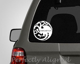 "Car Decal - 5"" Game of Thrones inspired House Targaryen Crest Car Decal"