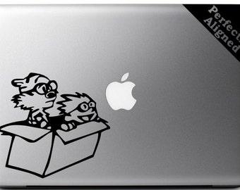 Vinyl Decal - Calvin & Hobbes inspired decal for Macbooks, Laptops, Cars, etc...