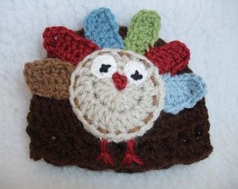 Ready to ship Newborn Thanksgiving Turkey beanie - photo prop