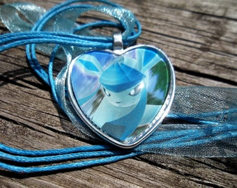 Glaceon - DARK EXPLORERS - handmade pendants from Trading Cards