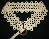BELT with wooden ring - adjustable crochet PDF PATTERN for any size