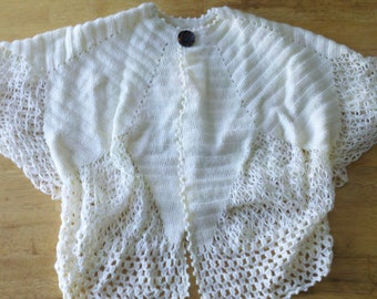 Handmade crochet Cardigan, Short sleeve cardigan