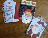 Upcycled old Christmas Cards - Set of 20 Holiday gift tags