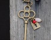 Heart and Lock keychain