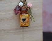 My Heart Lives in This Vial Necklace