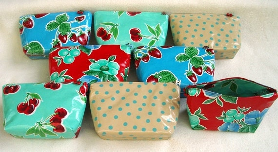 Oilcloth Cosmetics Bags  Only 2 Left