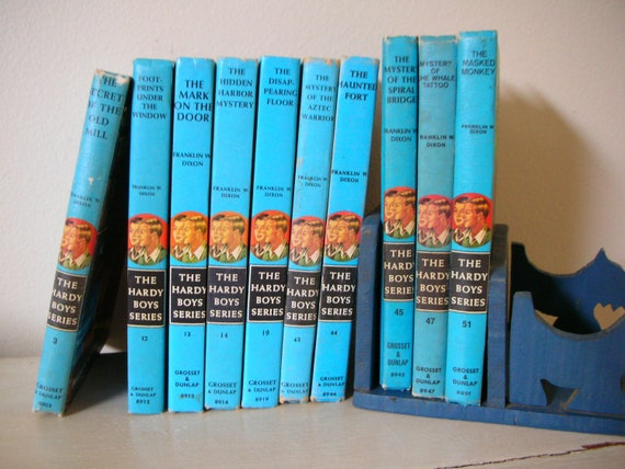 Ten Vintage Hardy Boys Books 1960s Instant Collection Kids