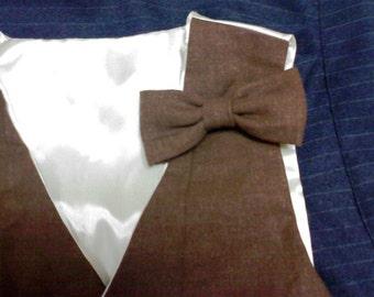 little boys bowtie,  Dark Redish Brown