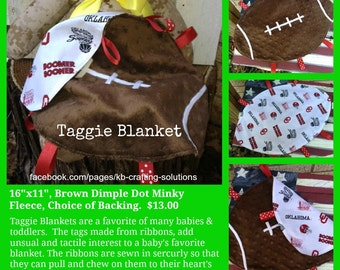 Military Football Taggie Blanket