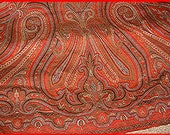 Paisley Shawl 1800s Antique Wool Jacquard Loom Civil War Layaway Available