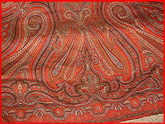 Paisley Shawl 1800s Antique Wool Jacquard Loom Civil War Layaway Available