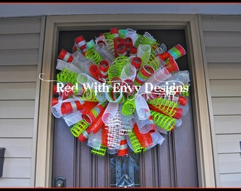 Christmas Wreath, Christmas, Wreath, Christmas Decor, Christmas Decoration, Whimsical Wreath, Whimsical Decor, Whimsical Decoration