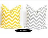 Pillow Set.TWO PIECE SET.16x16 inch.Pillow Cover Set.Free Shipping.Printed Fabric Front and Back