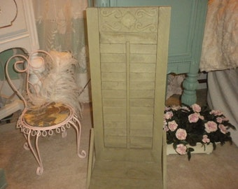 Lovely Vintage Home Interiors Shutter Wall Shelf,Shabby chic,French,French Country,Eclectic,Country,Primitive