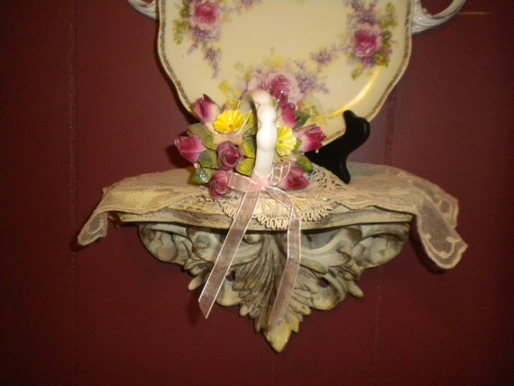 RESERVED....Lovely Small Ornate Shelf,Victorian,Baroque,French,Eclectic,shabby chic