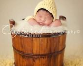 Baby Girl Hat BEAUTIFUL  Newborn Baby Girl Crochet Chunky Bonnet / Hat Pink Green Yellow White FREE SHIPPING Photography Prop